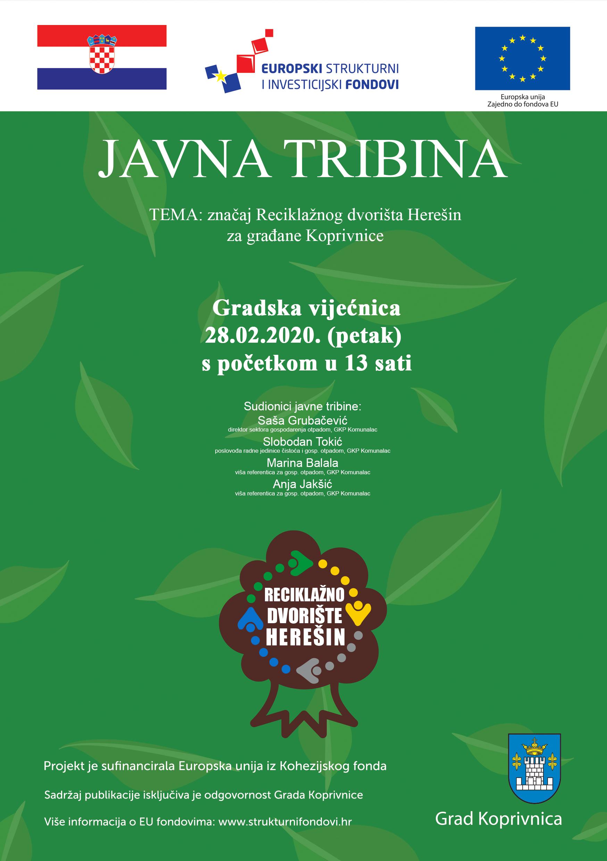 Javna tribina – značaj reciklažnog dvorišta Herešin za građane Koprivnice