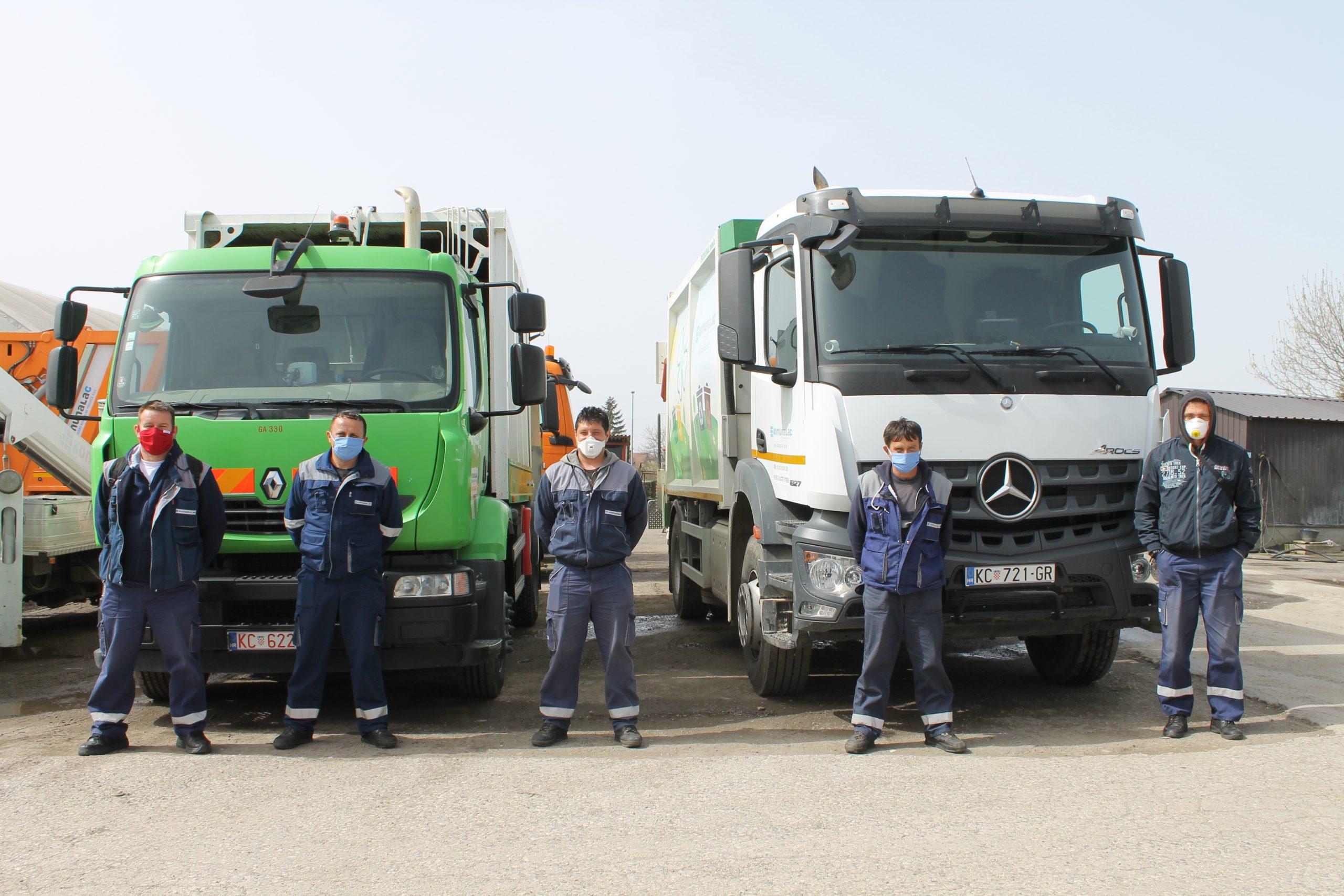GKP Komunalac otpad odvozi po rasporedu, zaposlenici koriste zaštitna sredstva