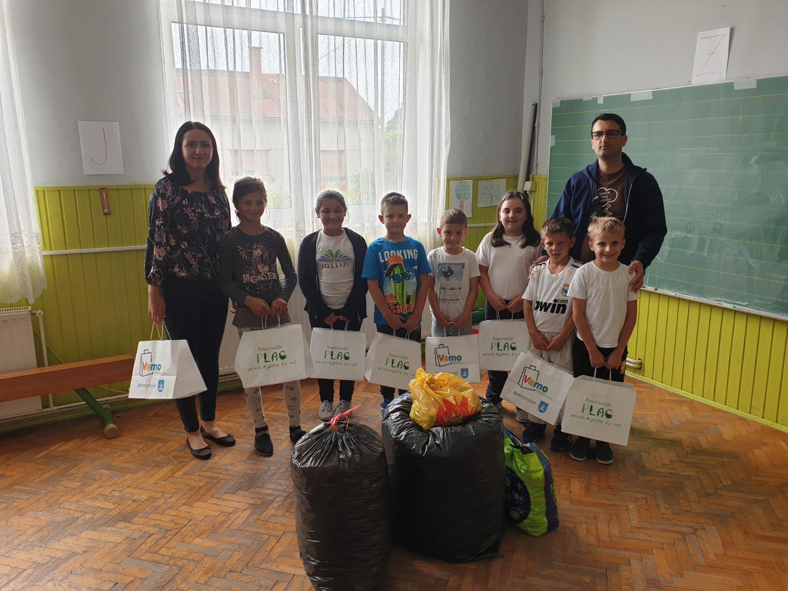 Učenici PŠ Veliki Otok marljivo skupljali plastične čepove za humanitarne svrhe