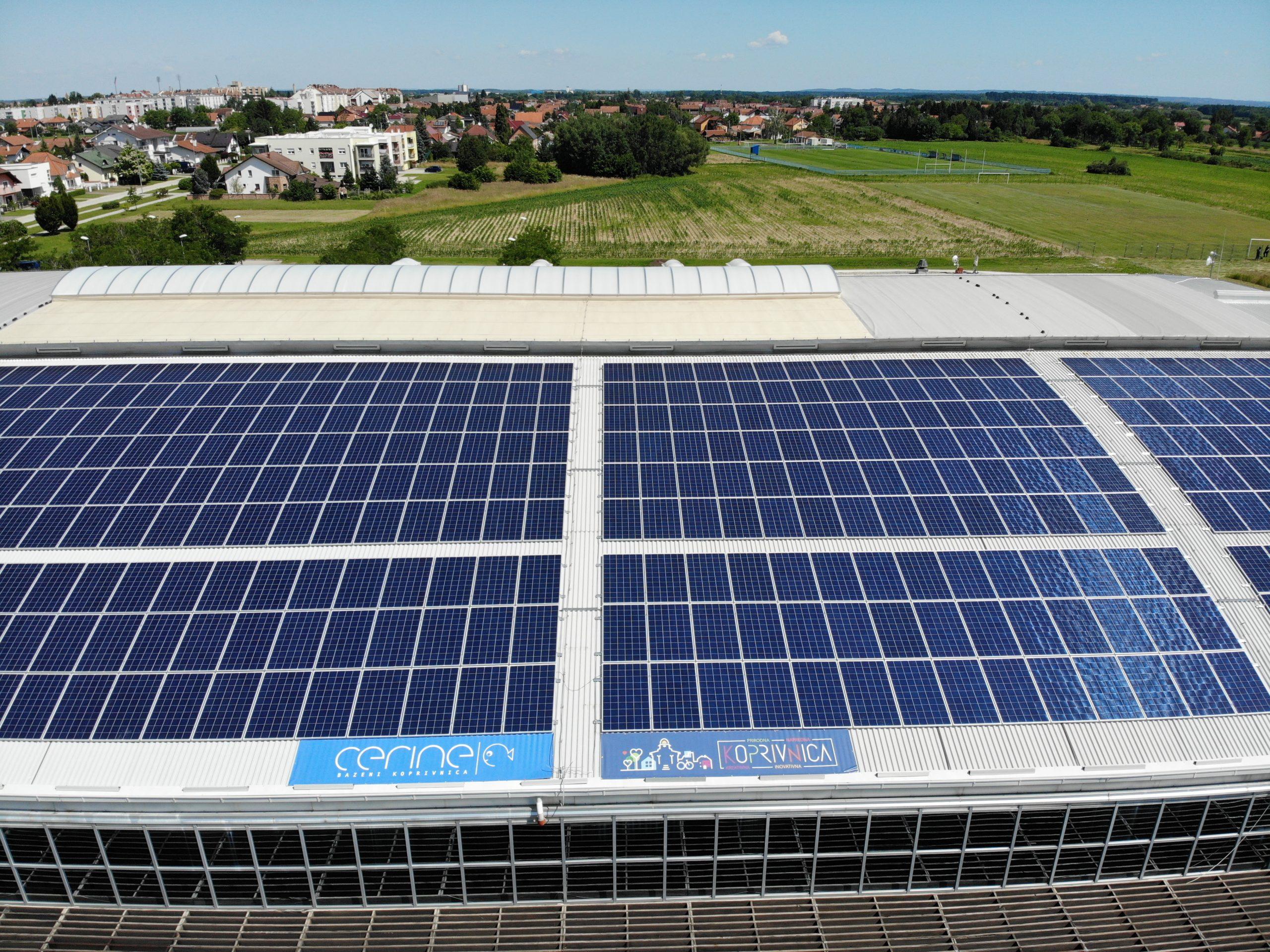 Solarna elektrana na Bazenima Cerine već je u probnom radu ostvarila velike uštede