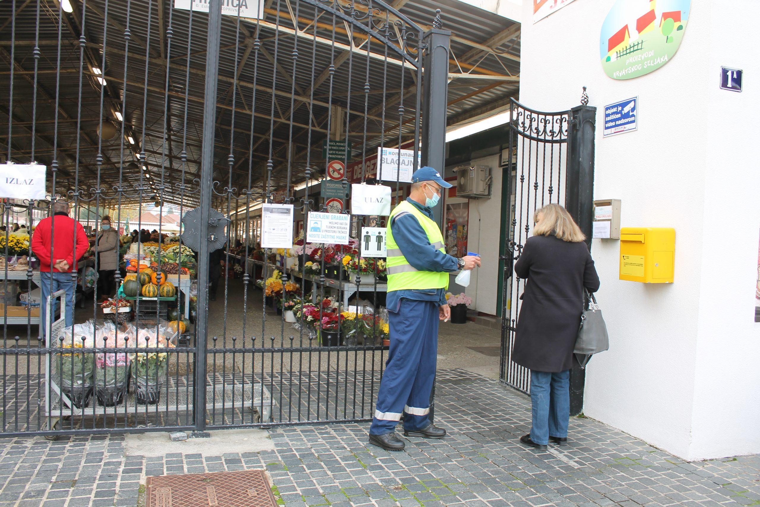 Pojačane mjere na Gradskoj tržnici, građane molimo za strpljenje i poštivanje mjera