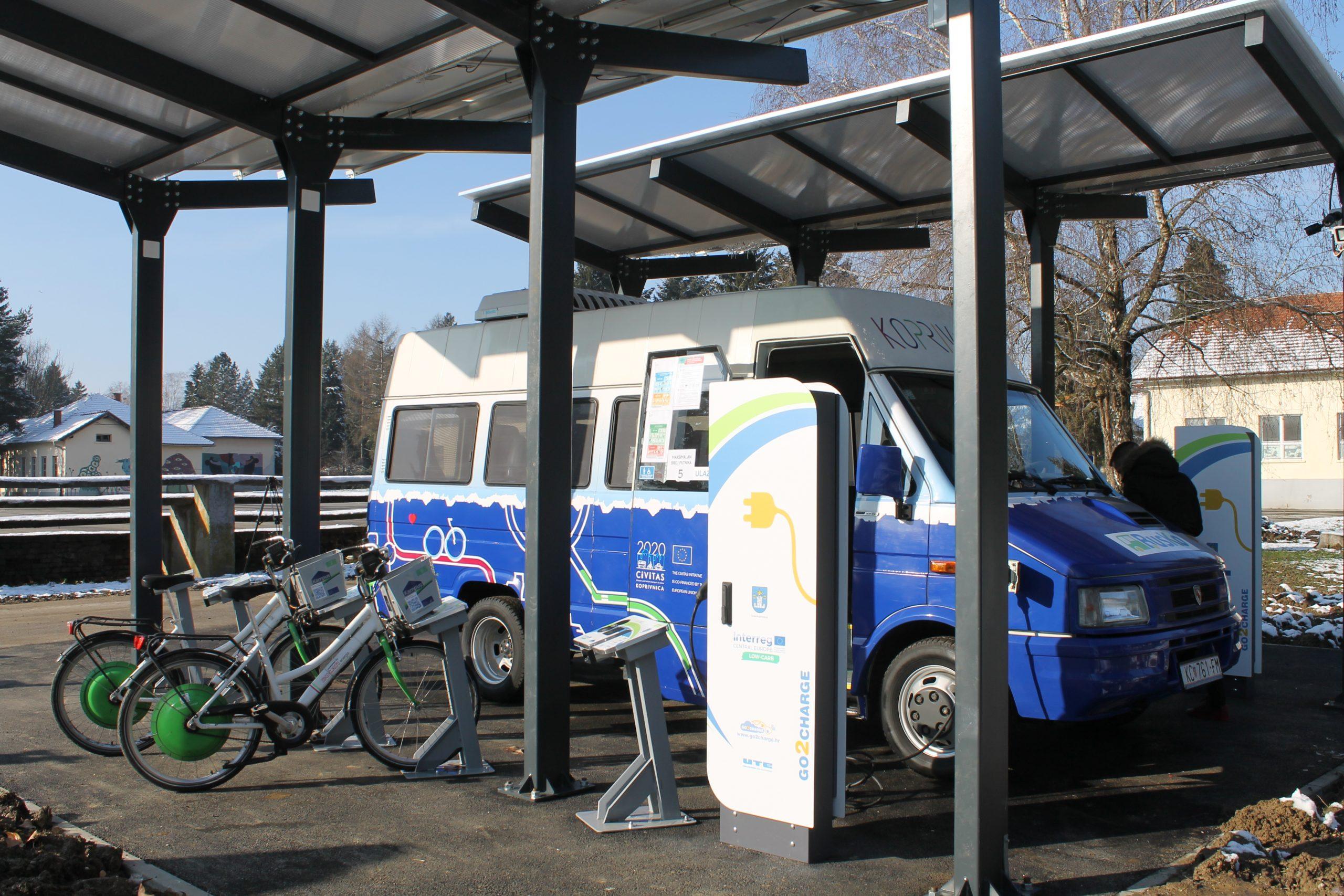 Predstavljena nova punionica za električna vozila u sklopu projekta Grada Koprivnice Low Carb u kampusu