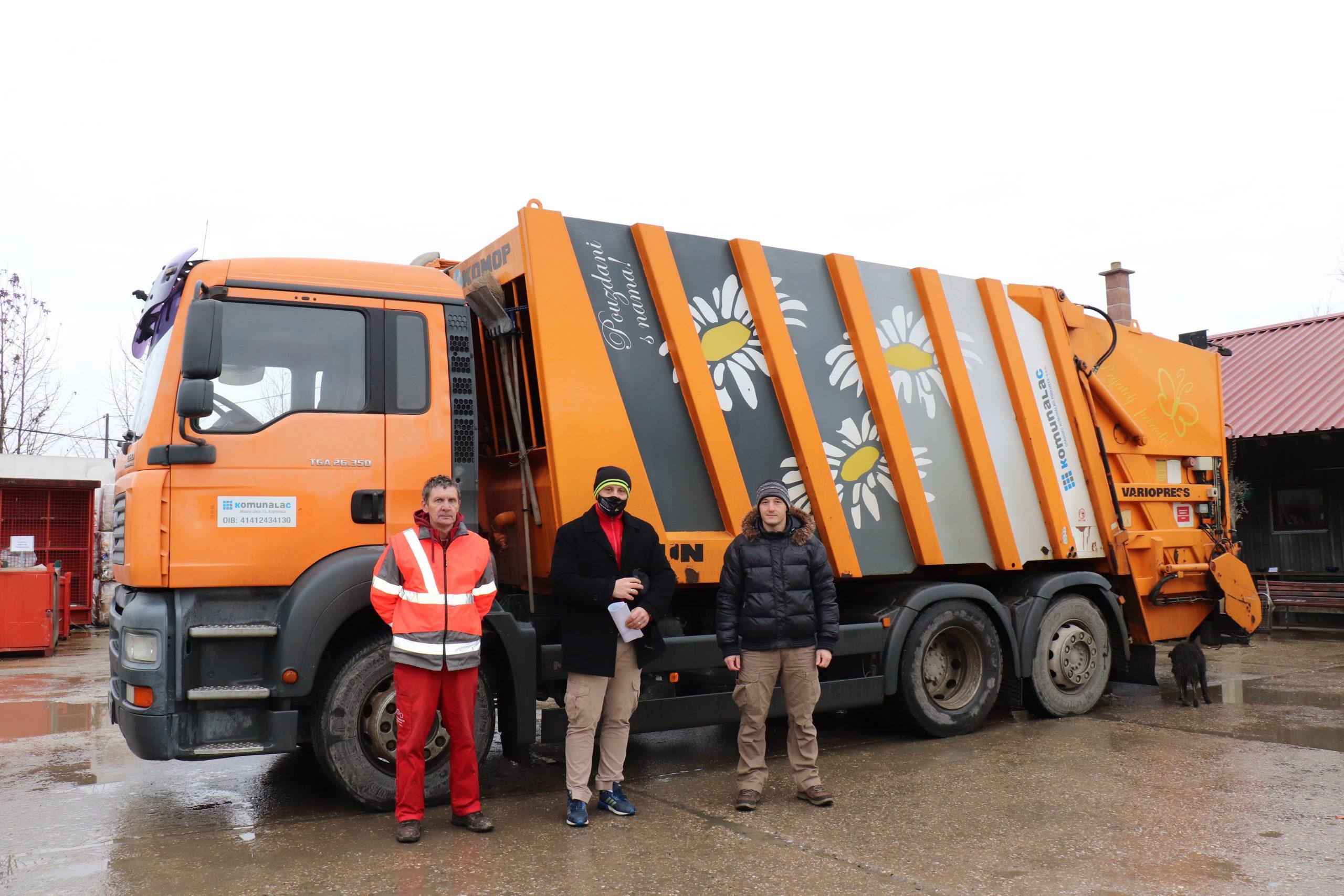 Komunalac posudio svoj kamion za prikupljanje otpada kolegama u Sisku