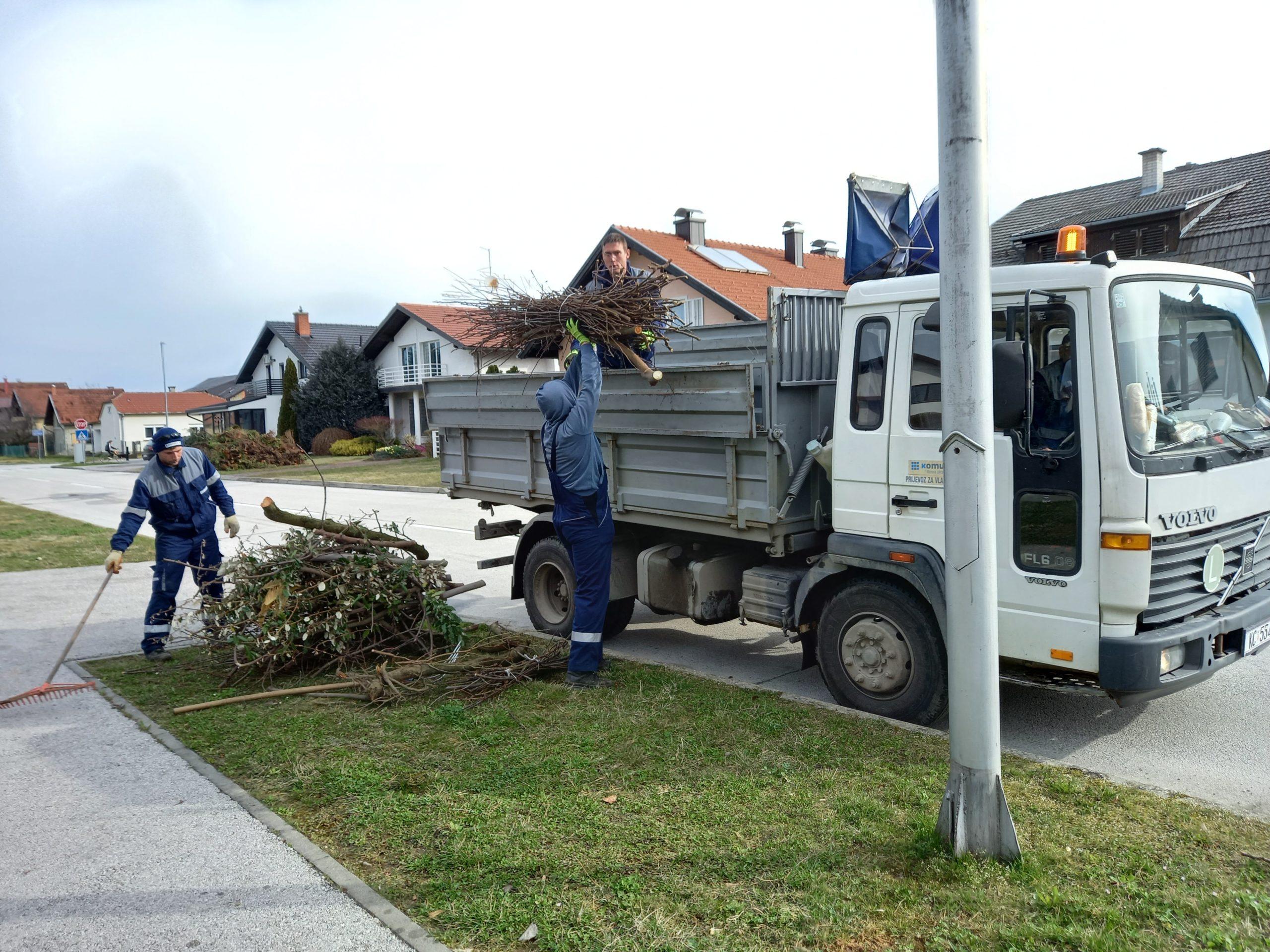 Počeo odvoz granja u Koprivnici