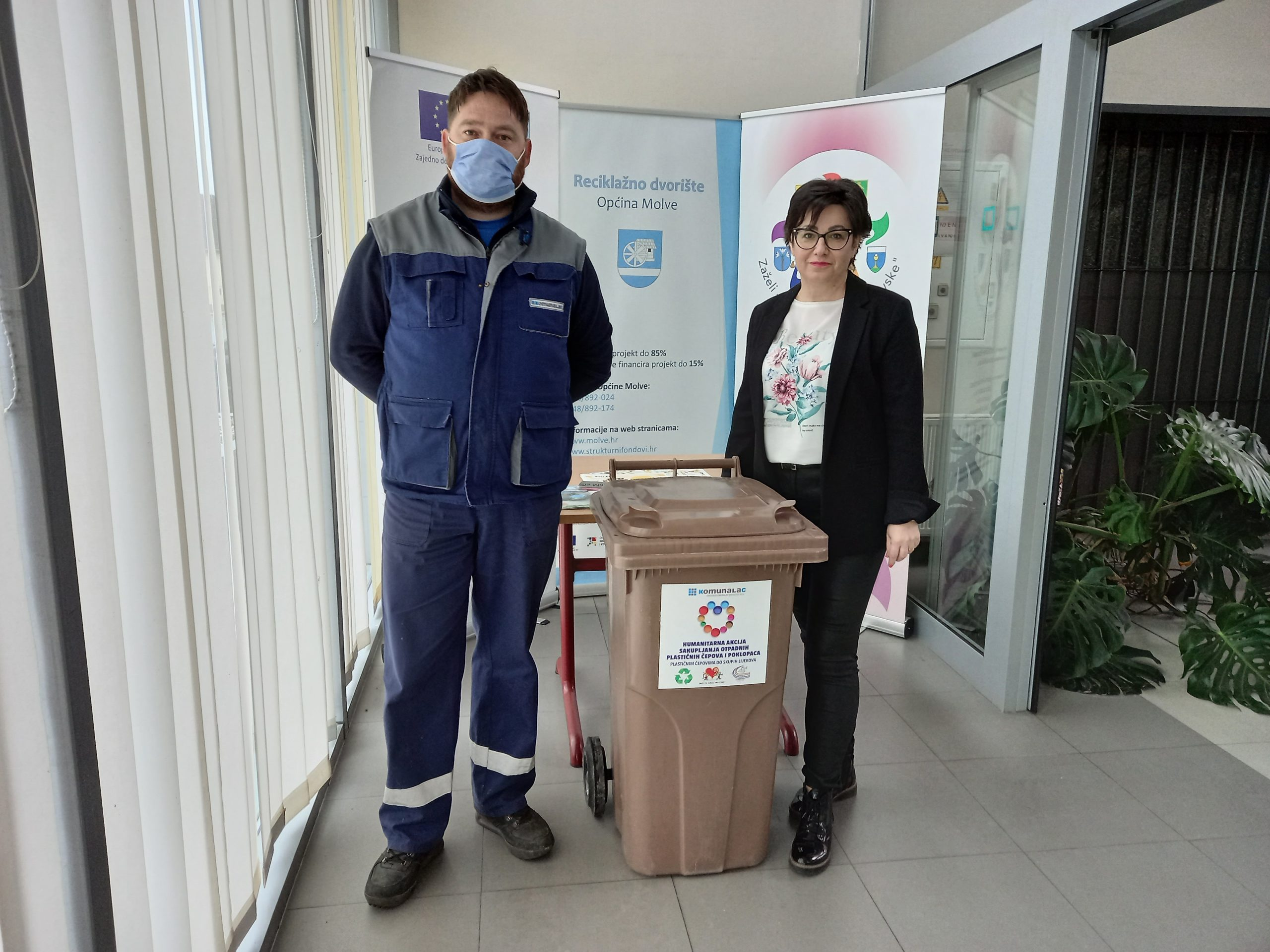 Sedam općina dobilo spremnik za prikupljanje plastičnih čepova u humanitarne svrhe