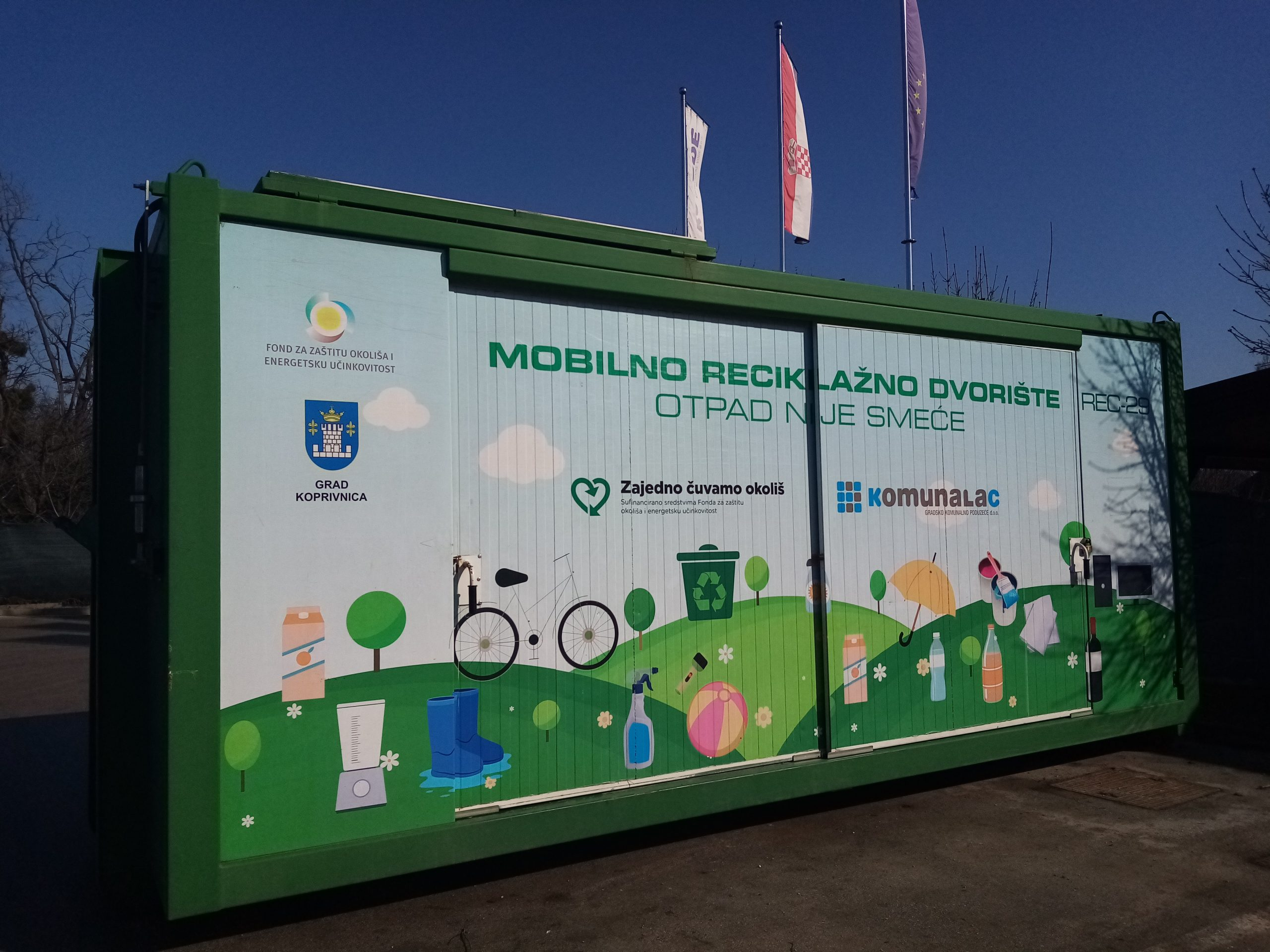 Mobilno reciklažno dvorište u utorak, 14. rujna, nalazit će se u općini Sokolovac